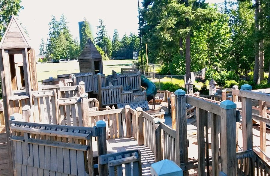 Kids Gig a Castle Like Playground in Gig Harbor
