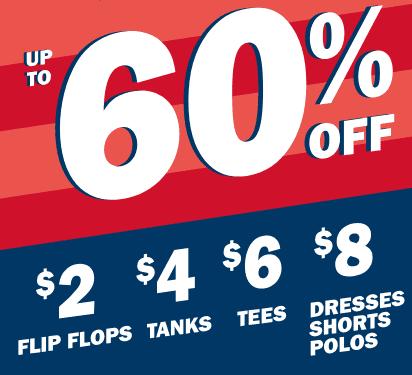 Old Navy 4th Of July Sale – Flip Flops $1.60, Tanks $3.20 & More!