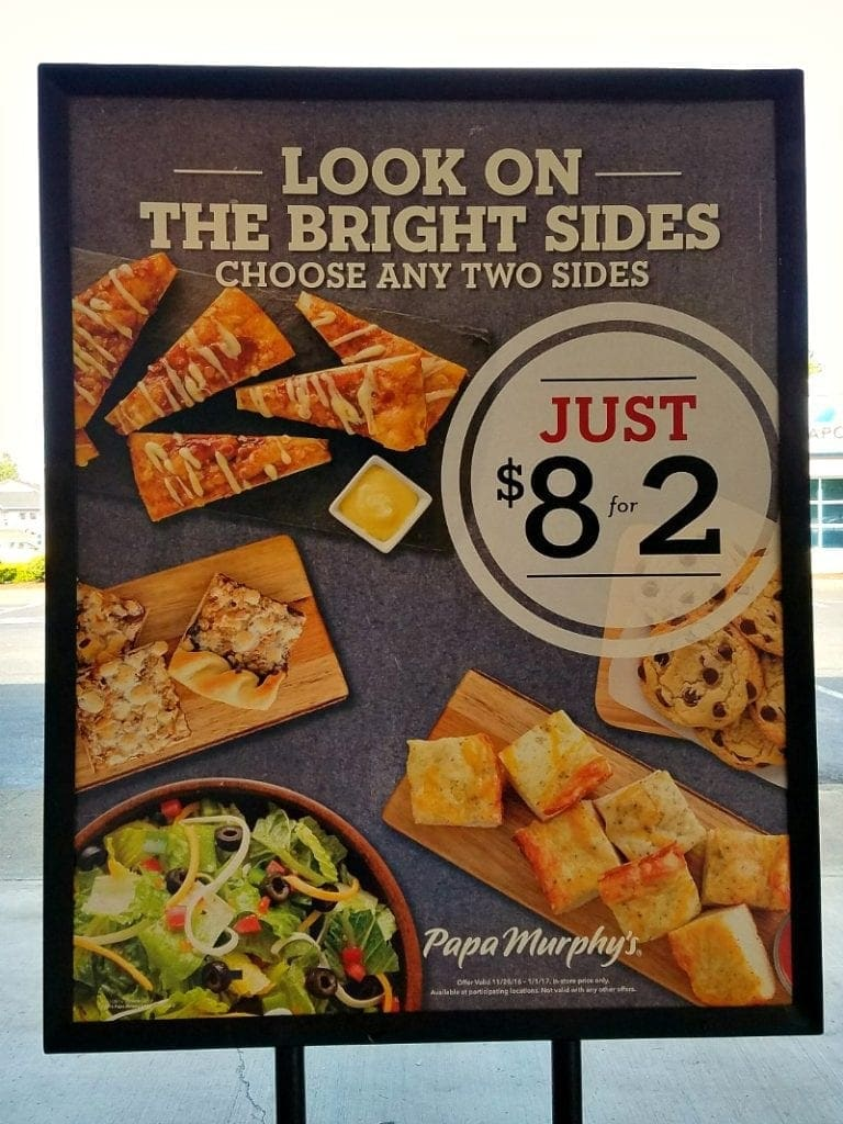 Papa Murphy's Sides -$8 for 2 sides