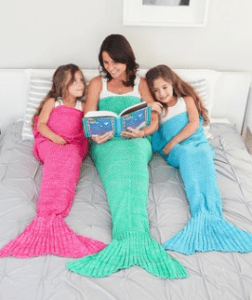 mermaid tail blankets at Zulily