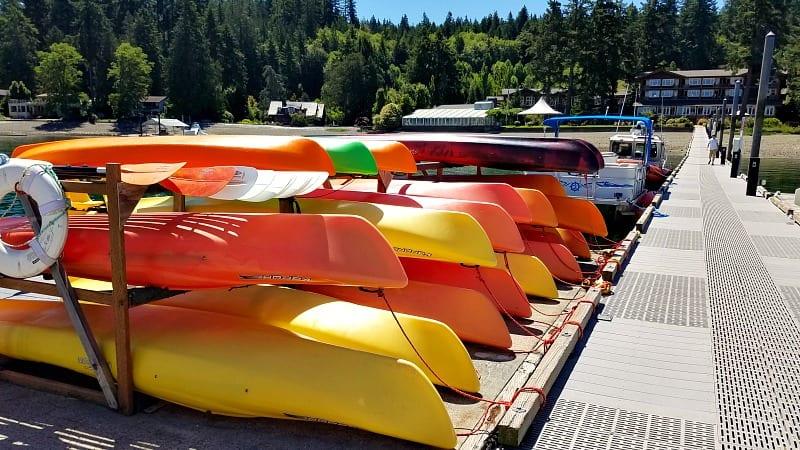 Boat rentals at Alderbrook Resort