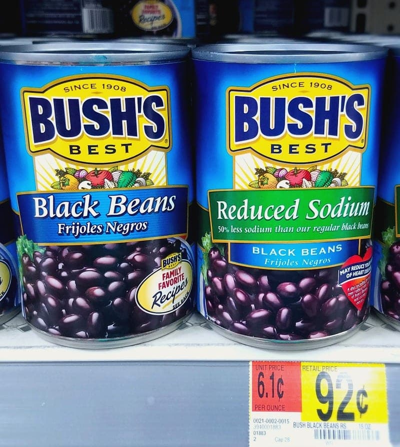 Buy Bushs Beans at Walmart for Corn and Black Bean Salsa