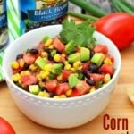 Corn and Black Bean Salsa is a healthy, filling appetizer for parties or get-togethers