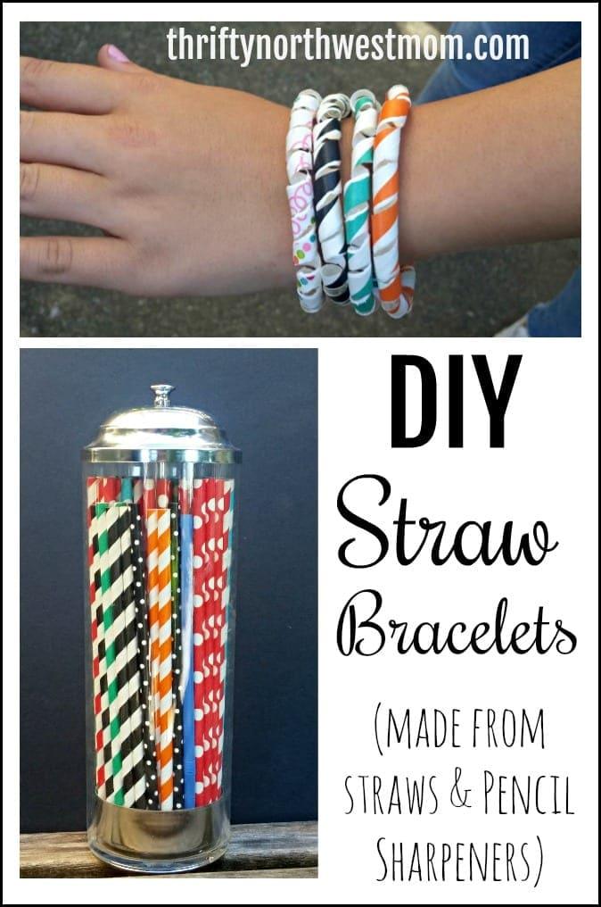 DIY Straw Bracelets – Simple, Fun Craft / Jewelry for Kids!