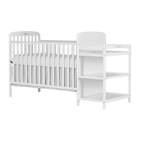Dream On Me 4 In 1 Convertible Crib And Changing Table