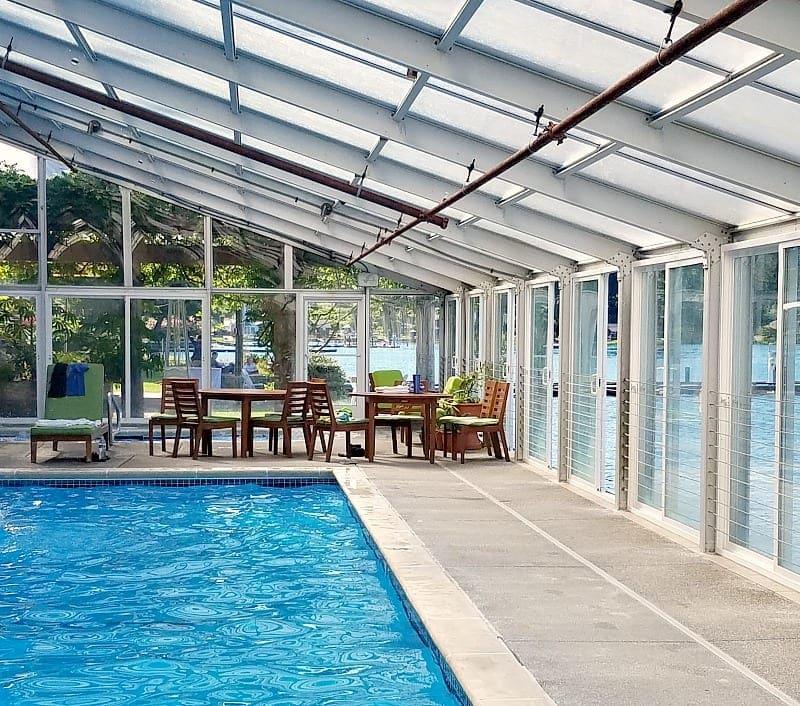 Indoor Pool on Water at Alderbrook Resort