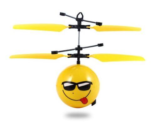 Infrared Sensor Hand Induced Flight Emoji Flying Helicopter $7.92!