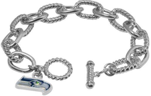 NFL Chain Link Logo Bracelet $8.99!