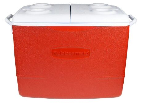 Rubbermaid 50 Qt. Insulated Modern Red Cooler
