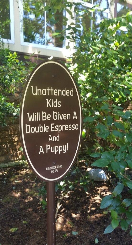 Sign at Alderbrook Resort