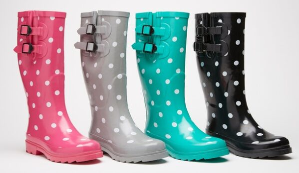 Sociology Women's Polka-Dot Rain Boots