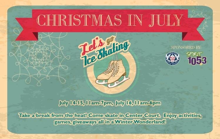 South Hill Mall – FREE Ice Skating July 14 – 16th!