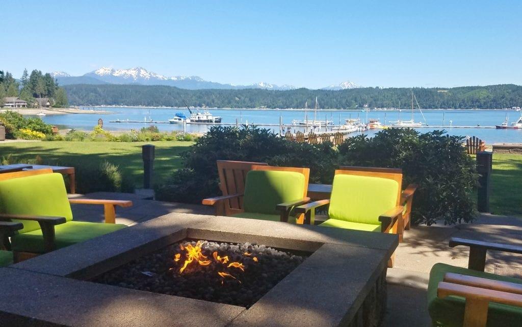 View from Alderbrook Resort FirePit