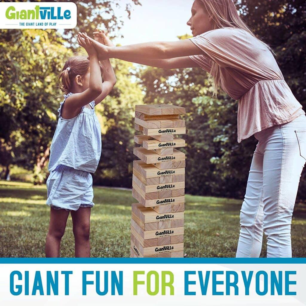 Giant Lawn Jenga Game