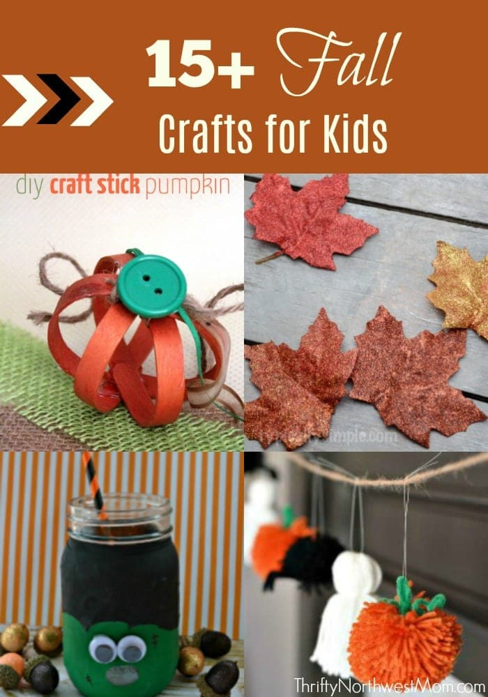 15+ Fall Crafts for Kids +  Halloween Crafts