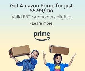 Amazon Prime Membership - $5 99 / Month (EBT Card Holders