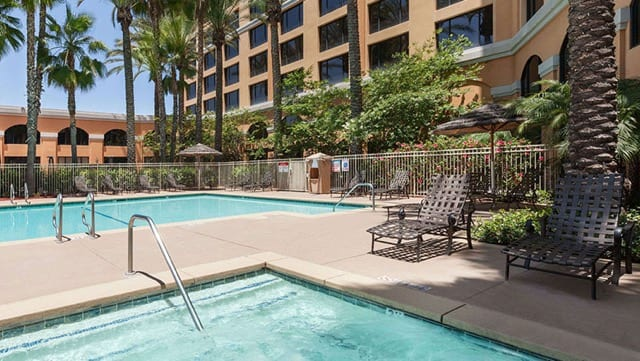Staying off site when visiting disneyland best hotels by for Garden grove pool fairfield