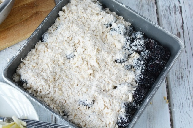 Crumble Topping for Blackberry Cobbler