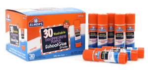 Elmer's Washable All-Purpose School Glue Sticks, 30 Pack