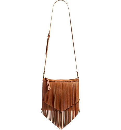 Layered Fringe Crossbody Bag