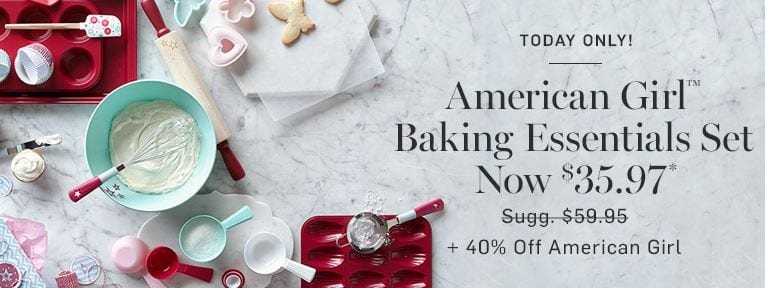 Williams Sonoma Sale - American Girl baking Items