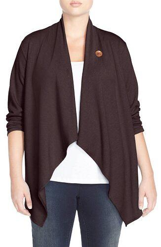 Bobeau One-Button Fleece Cardigan (Plus Size) $44.90! (Reg $68)
