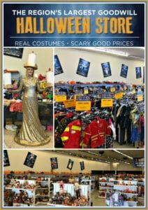 The Largest Goodwill Halloween Store is in Spanaway WA filled with both thrifted & new costumes & accessories