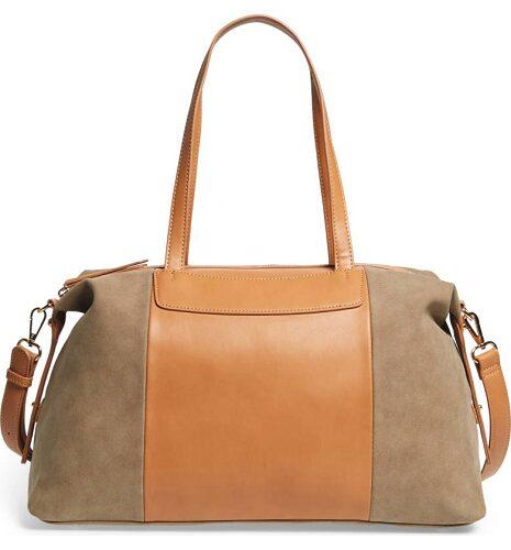 Greyson Two-Tone Faux Leather & Faux Suede Duffel $24.97 (Reg $64.95)
