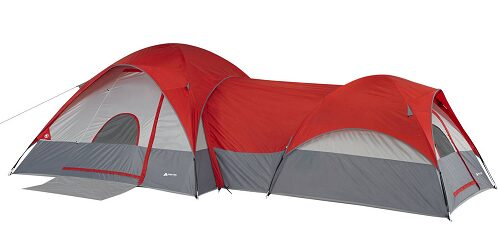 Ozark Trail 8-Person Dome ConnecTent with Tunnel with Zip-Open Fly