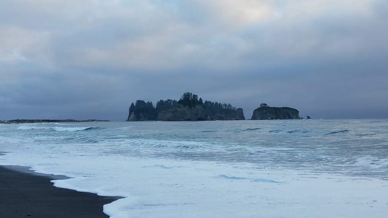 Rialto Beach at dusk in Olympic National Park