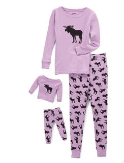 Leveret Moose Pajama Set
