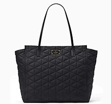 Kate Spade Black Quilted Purse