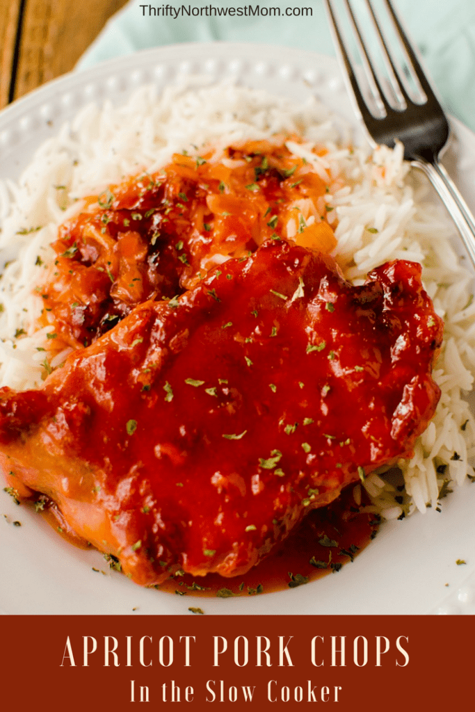 This Apricot Pork Chop recipe for the Slow Cooker is a simple & fast recipe for busy nights