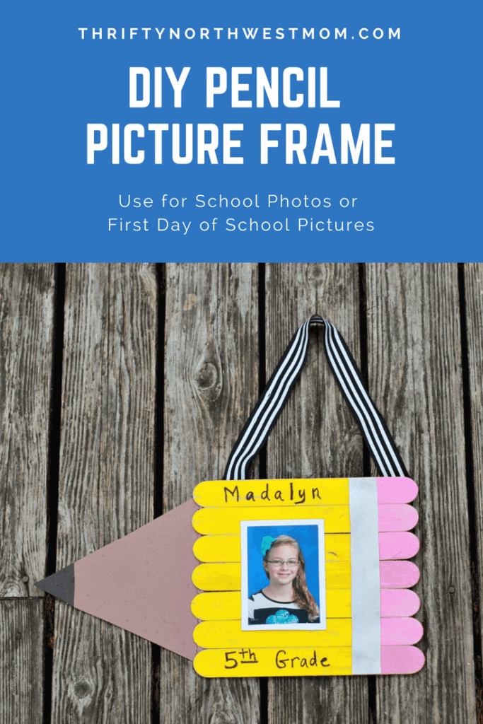 Diy Pencil Picture Frame For School Photos With Mess Free Paint