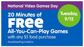 $5 for a $10 eGift Card to Chuck E. Cheese's! Affordable Indoor Play for Kids