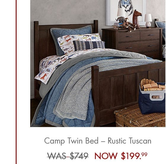 Pottery barn up to 70 off free shipping today only for Twin bed frame clearance