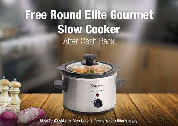 FREE Slow Cooker After Cashback for New TopCashback Members!