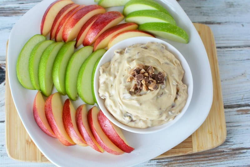 Toffee Apple Dip is the perfect fall treat to bring to a party