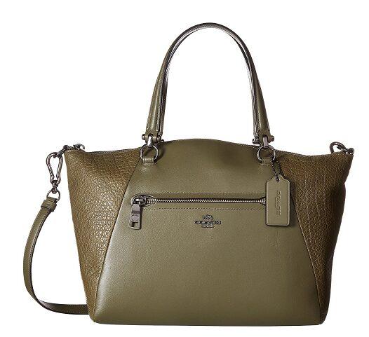 COACH Mixed Leather Prairie Satchel $124.99 (Reg $295)