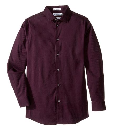 Calvin Klein Kids Long Sleeve Luster Tonal Stripe Stretch Shirt