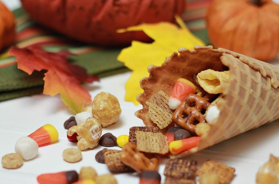 Cornucopia with Fall Snack Mix