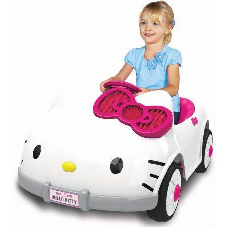 Dynacraft Hello Kitty 6V Battery Powered Ride On Car $79 (Reg $229)