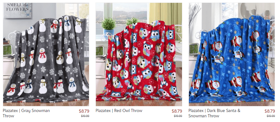 Seasonal Throw Blankets – $8.79 (Today Only)!