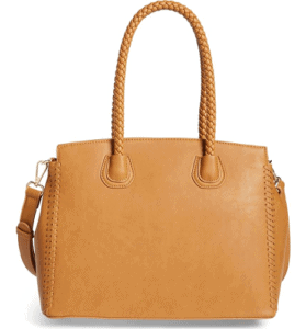 Lexington Whipstitch Faux Leather Satchel