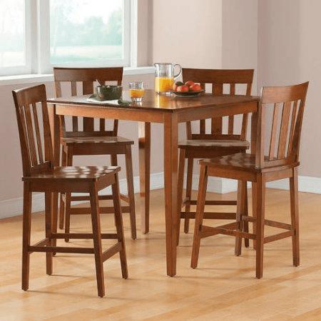 Mainstays 5-Piece Counter-Height Dining Set $109.85 (Reg $199)