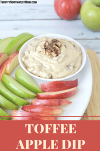 Make this Toffee Apple Dip in 10 minutes or less for a fun fall treat for a party