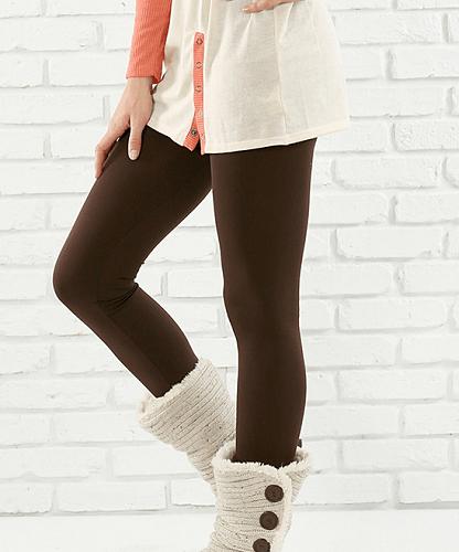 Plus Size Tummy-Control Fleece Leggings