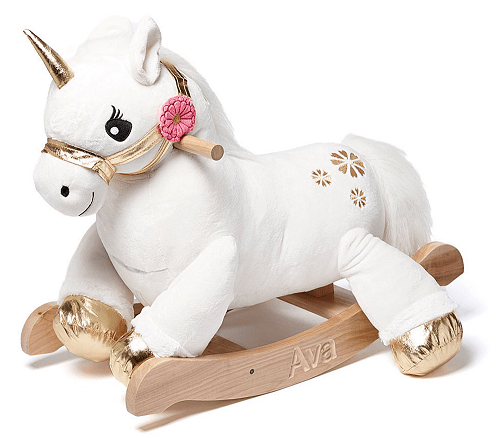 Rockabye Angel the Unicorn Personalized Rocker