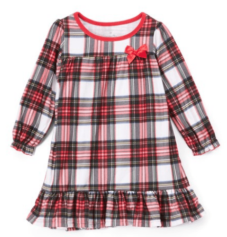 Red & White Plaid Bow Nightgown