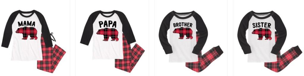 Matching Bear Christmas Pajamas